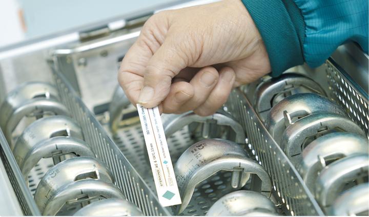 indicatore per verifica ciclo di sterilizzazione