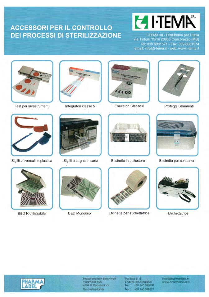 accessori controllo processo sterilizzazione ospedaliera
