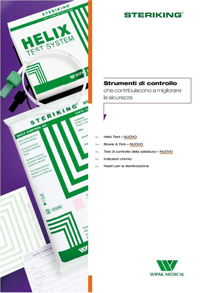 catalogo indicatori e nastri per controllo sterilizzazione in ospedale