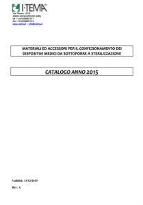 Catalogo prodotti sterilizzazione ospedaliera