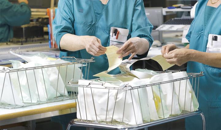 buste per sterilizzazione ospedale