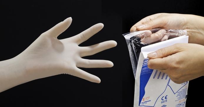 barriera Wipak confezionamento per guanti